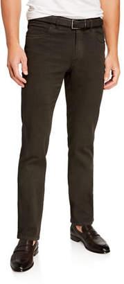 Brioni Men's Solid Straight-Leg Jeans