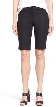 Women's Nic+Zoe 'The Perfect' Stretch Woven Trouser Shorts $108 thestylecure.com
