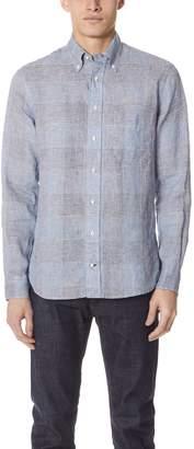 Gitman Brothers Long Sleeve Linen Check Shirt