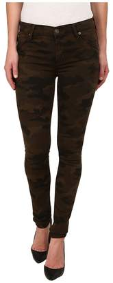 Hudson Lilly Mid Rise Ankle Skinny w/ Flap Jeans in Combat Combo Women's Jeans