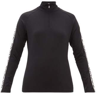Bogner Hayden Logo Stripe Technical Thermal Top - Womens - Black