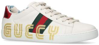 Gucci Leather Logo Ace Sneakers