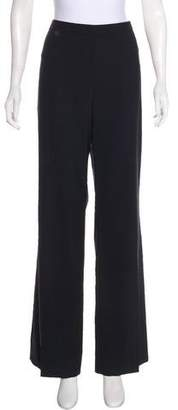 Rena Lange Virgin Wool High-Rise Pants
