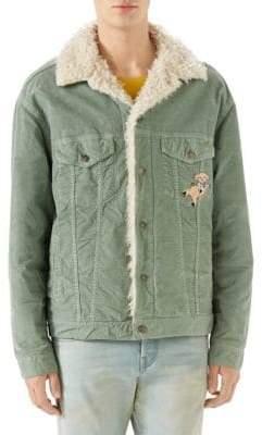 Gucci Faux Shearling Corduroy Jacket