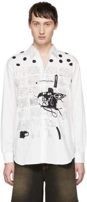 Comme des Garcons White Basquiat Edition Poplin Print Shirt