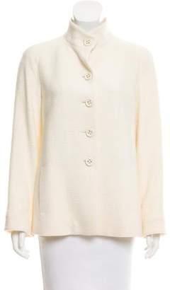 Agnona Mock Neck Textured Jacket