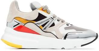 Alexander McQueen multicoloured Patchwork Runner leather sneakers