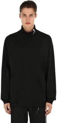 High Collar Jersey Long Sleeve T-Shirt