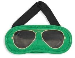 Flight 001 Aviator-Print Eye Mask