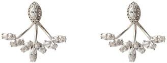 Wild Hearts Petal Ear Jackets Silver