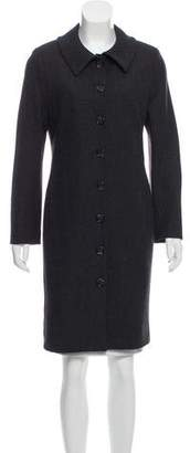 Dolce & Gabbana Button-Up Wool Coat