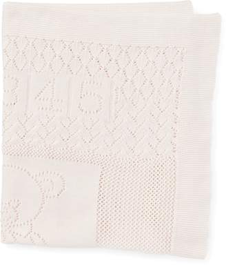 Ralph Lauren Bear Pointelle Cotton Blanket