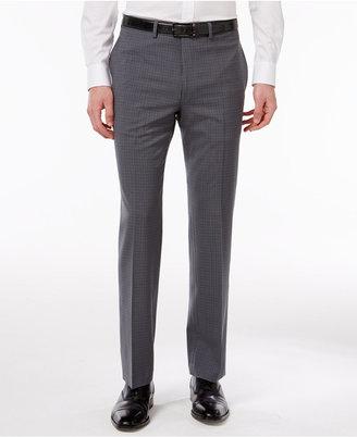 Calvin Klein Men's Extra Slim-Fit Gray Plaid Dress Pants $95 thestylecure.com