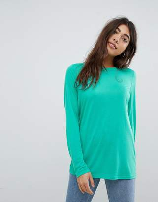 Asos Design T-Shirt With Longline Sleeve In Lightweight Jersey