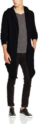 Urban Classics Long Hooded Open Edge Cardigan M