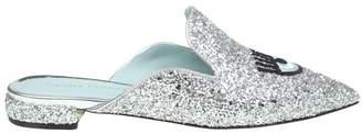 Chiara Ferragni Sabot In Silver Glitter flirting Eyes