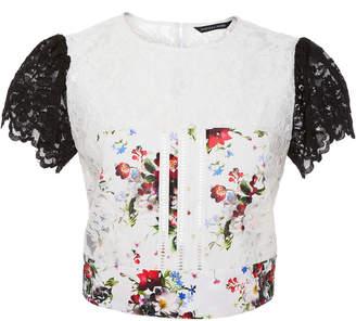 Marissa Webb Imani Print Lace Top