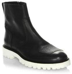 Belstaff Polish Leather Ankle Boots