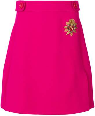 Dolce & Gabbana Sacred Heart patch A-line skirt