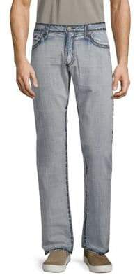 Straight Leg Cotton Jeans