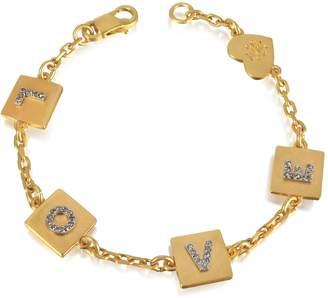 Tory Burch Love Message Delicate Chain Bracelet