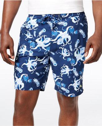 Tommy Bahama Men's Baja Kraken Up Sun Protected 30 Swim Trunks $88 thestylecure.com
