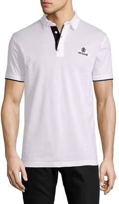 Roberto Cavalli Men's Short-Sleeve Cotton Polo