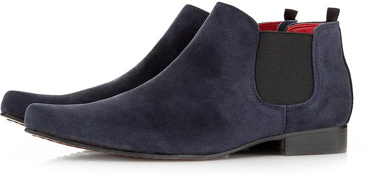 Topman 'Juan' Low Chelsea Boots