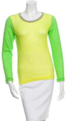 Yohji Yamamoto Colorblock Long Sleeve T-Shirt $65 thestylecure.com