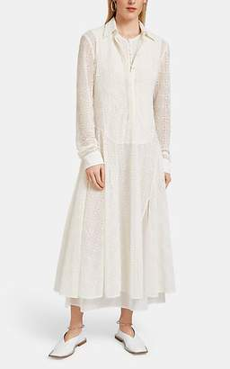 Jil Sander Women's Eyelet Shirtdress - White