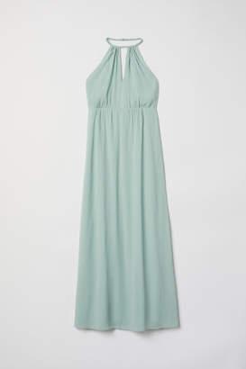H&M Chiffon Halterneck Dress - Turquoise