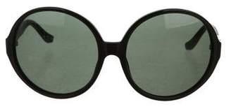 The Row Logo-Embellished Round Sunglasses