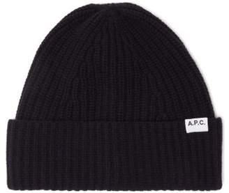 A.P.C. Sam Wool Beanie Hat - Mens - Dark Navy