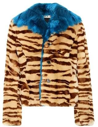 Marni Printed fur jacket