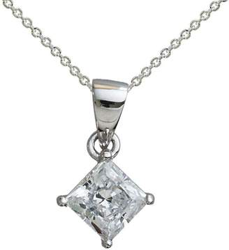 Diamonique 1.00 cttw Princess Cut Pendant, Platinum Clad