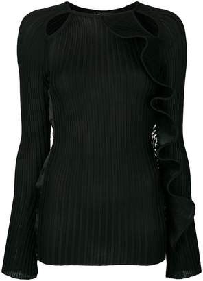 David Koma cut out knitted top