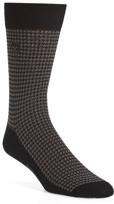 Men's Alexander Mcqueen Cotton Blend Houndstooth Socks $80 thestylecure.com