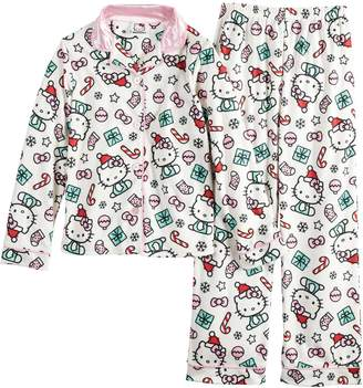 Hello Kitty Girls 4-12 Christmas Top & Bottoms Pajama Set