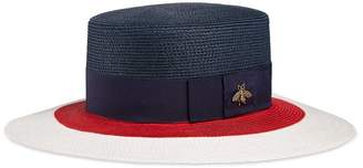 Gucci Papier hat with New Flora ribbon