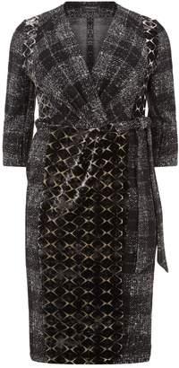 Marina Rinaldi Wrap Multi-Textured Dress