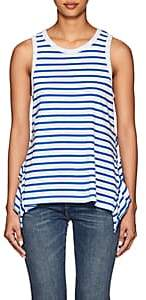 Current/Elliott Women's Ruffle-Trimmed Striped Tank Top