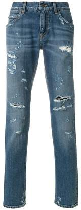Dolce & Gabbana distressed regular fit jeans