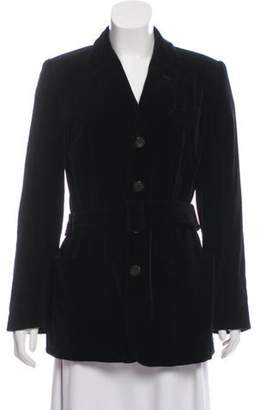 Jean Paul Gaultier Velvet Notch-Lapel Blazer Black Velvet Notch-Lapel Blazer