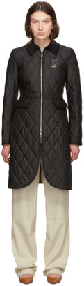 Burberry Black Quilted Ongar Equestrian Jacket