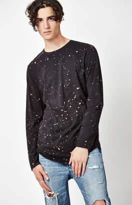 GUESS Pacsun Alan Bleached Long Sleeve Scallop T-Shirt