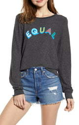Wildfox Couture Equal Baggy Beach Jumper Sweatshirt