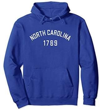 North Carolina Hoodie 1789 NC Hooded Sweatshirt Vintage Mom