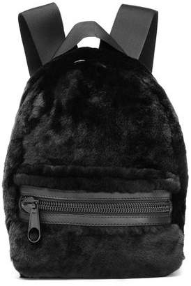 Alexander Wang Leather-Trimmed Shearling Backpack