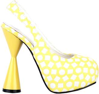 Glamorous Show Story Geometric Patterns Two Tone Cone Heel Party Platform Pump,LF40814YL41,10US