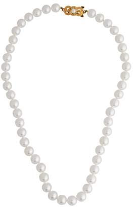 Mikimoto 18k Yellow Gold Pearl Strand Necklace